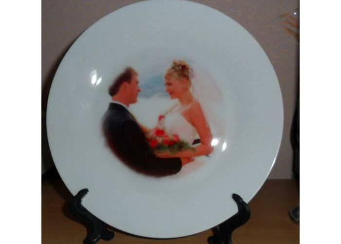 Сделать фото на тарелке своими руками